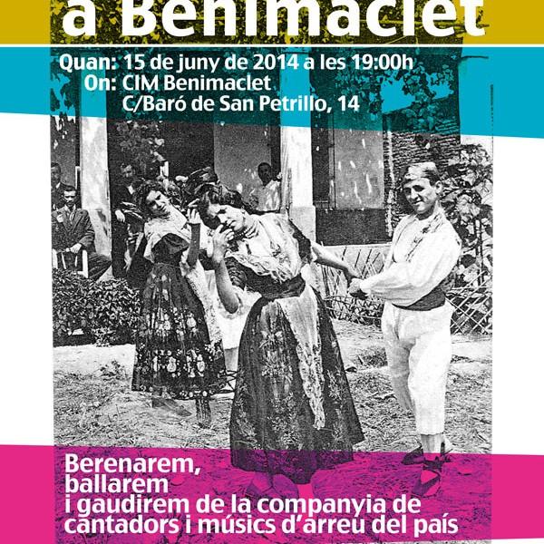 cartell sarau Benimaclet